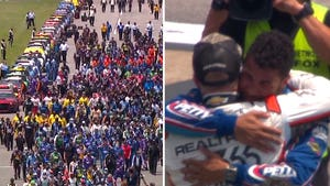 Bubba Wallace Finishes 14th After Drivers Rally Behind In Emotional Scene