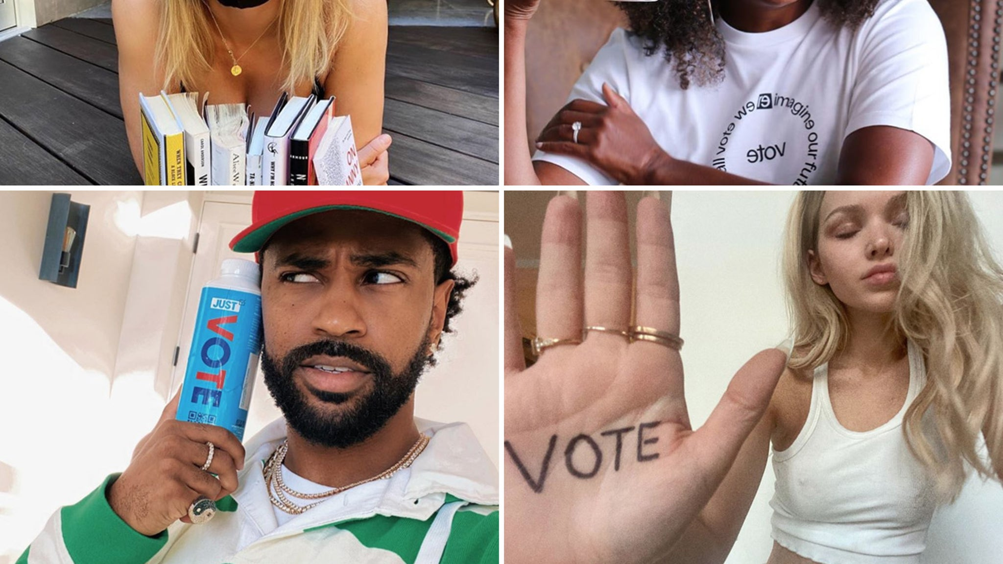 Chelsea, Michelle, Big Sean Make Sure You Register to Vote!!!