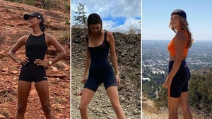 Hiking Stars Socially Distancing -- Hot On The Trail!