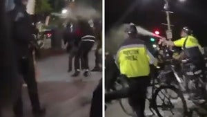 Boston Police Excitedly Pepper Spray, Strike Protesters