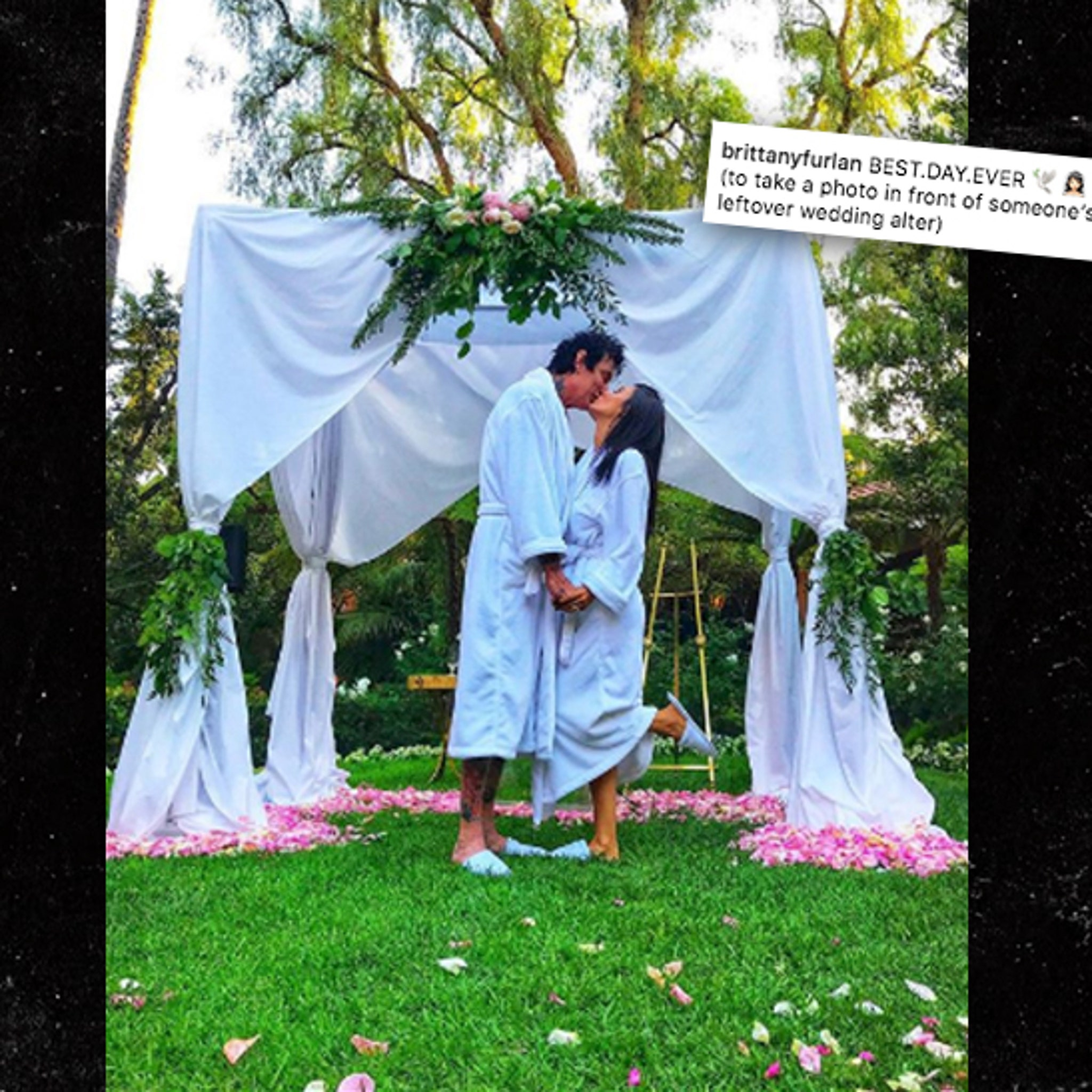 Tommy Lee And Brittany Furlan Not Married Despite Wedding Pic
