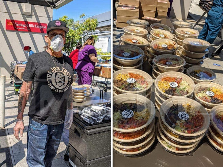 Danny Trejo Donates Hundreds of Meals to L.A. Hospital Workers 1