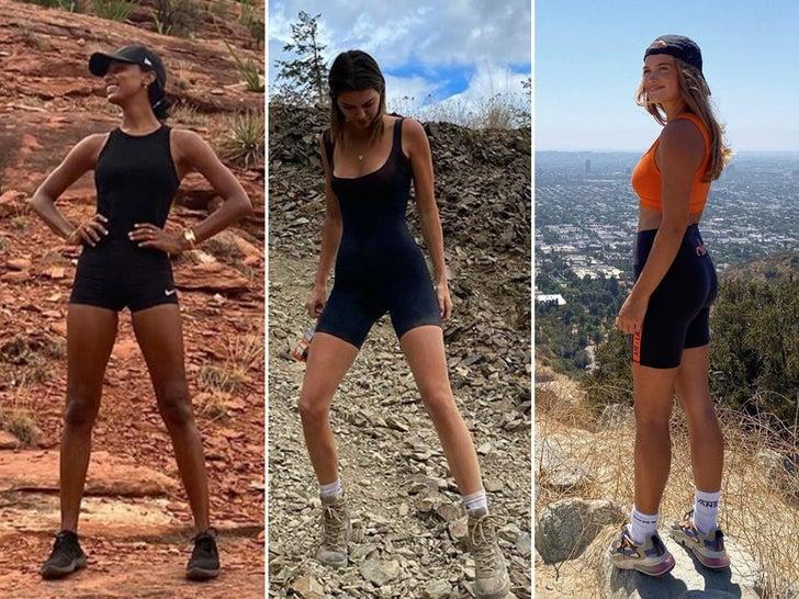 Hiking Hotties Socially Distancing