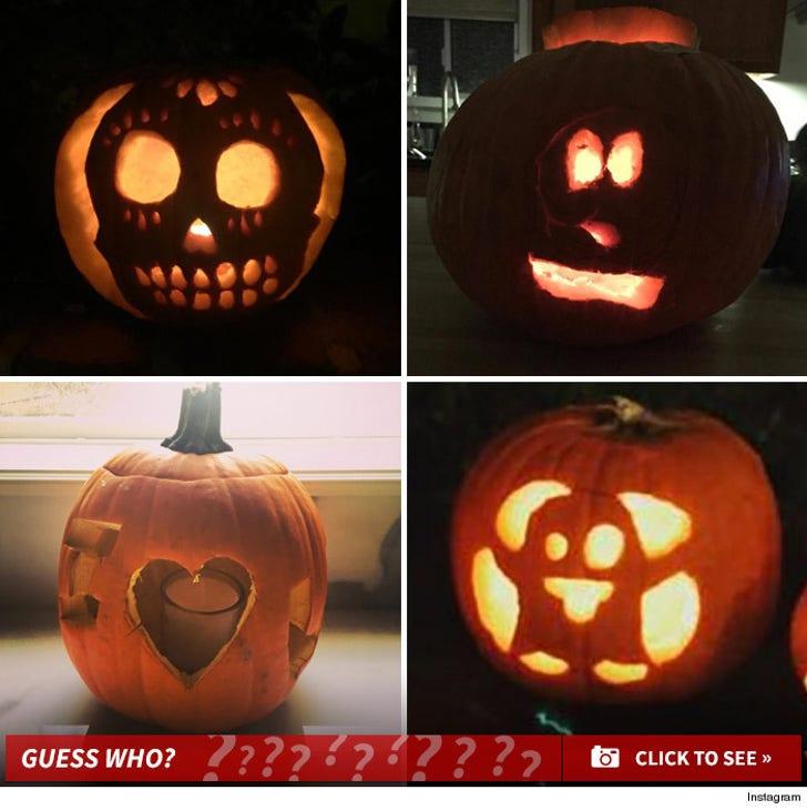Celebrity Pumpkin Carvings -- Guess Whose Jack-o-Lantern!