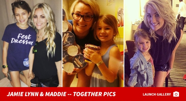Jamie Lynn Spears and Maddie -- Together