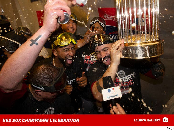 Red Sox -- World Series Champagne Celebration
