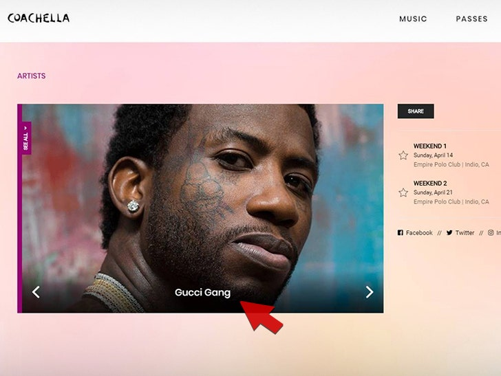 ece4eb7db4aa Gucci Mane's Alleged Typo in Coachella Adjusted to Include Lil Pump ...