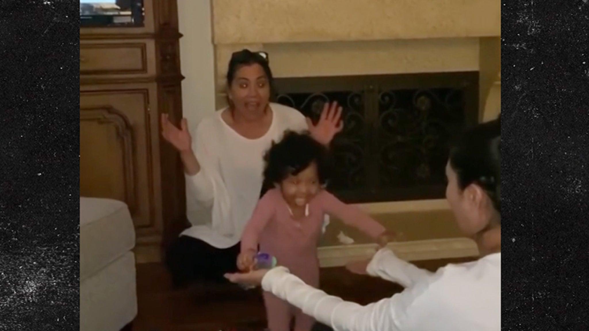 Kobe and Vanessa Bryant's Baby Capri Takes First Steps