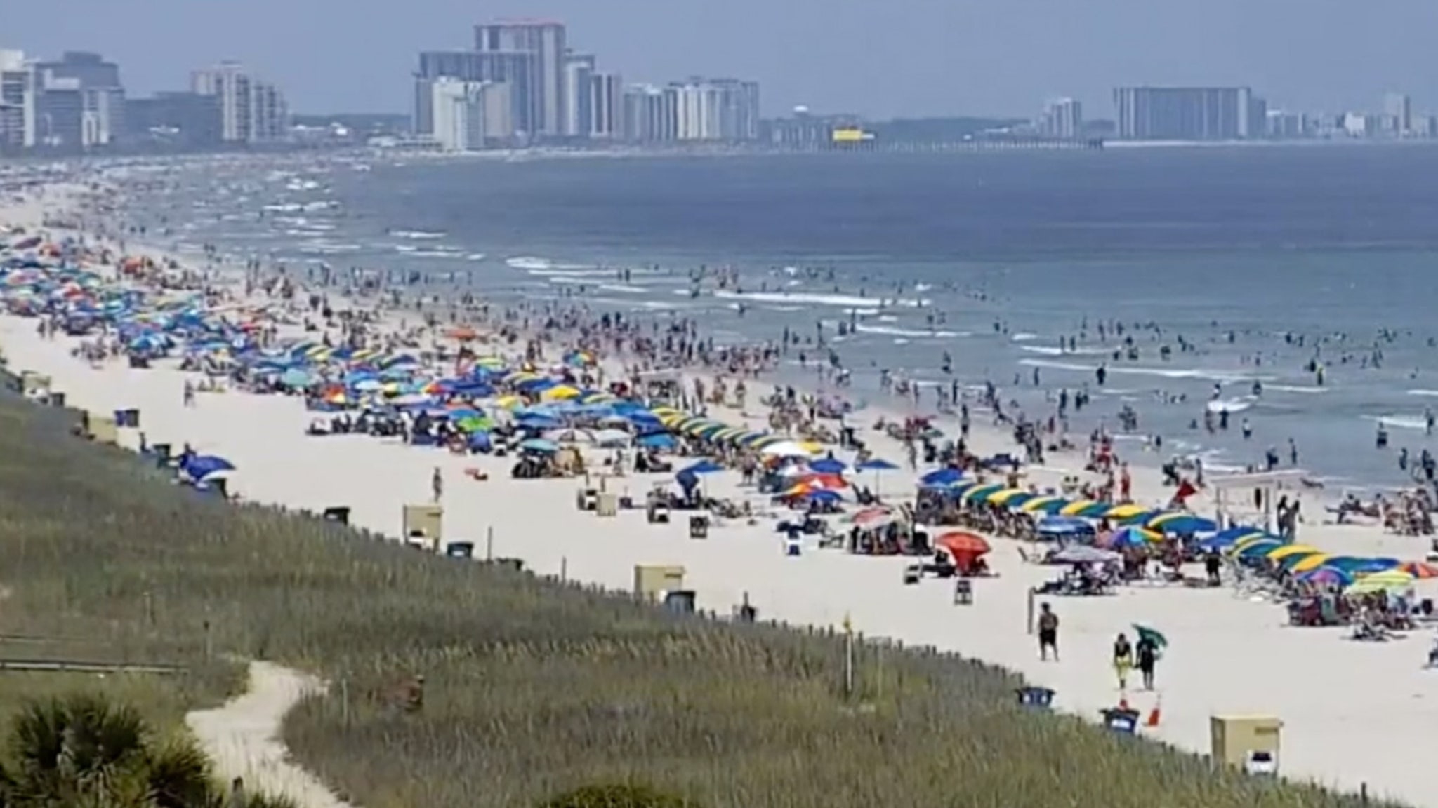 Myrtle Beach Packed as July 4th Weekend Kicks Off, COVID-19 Cases Rise