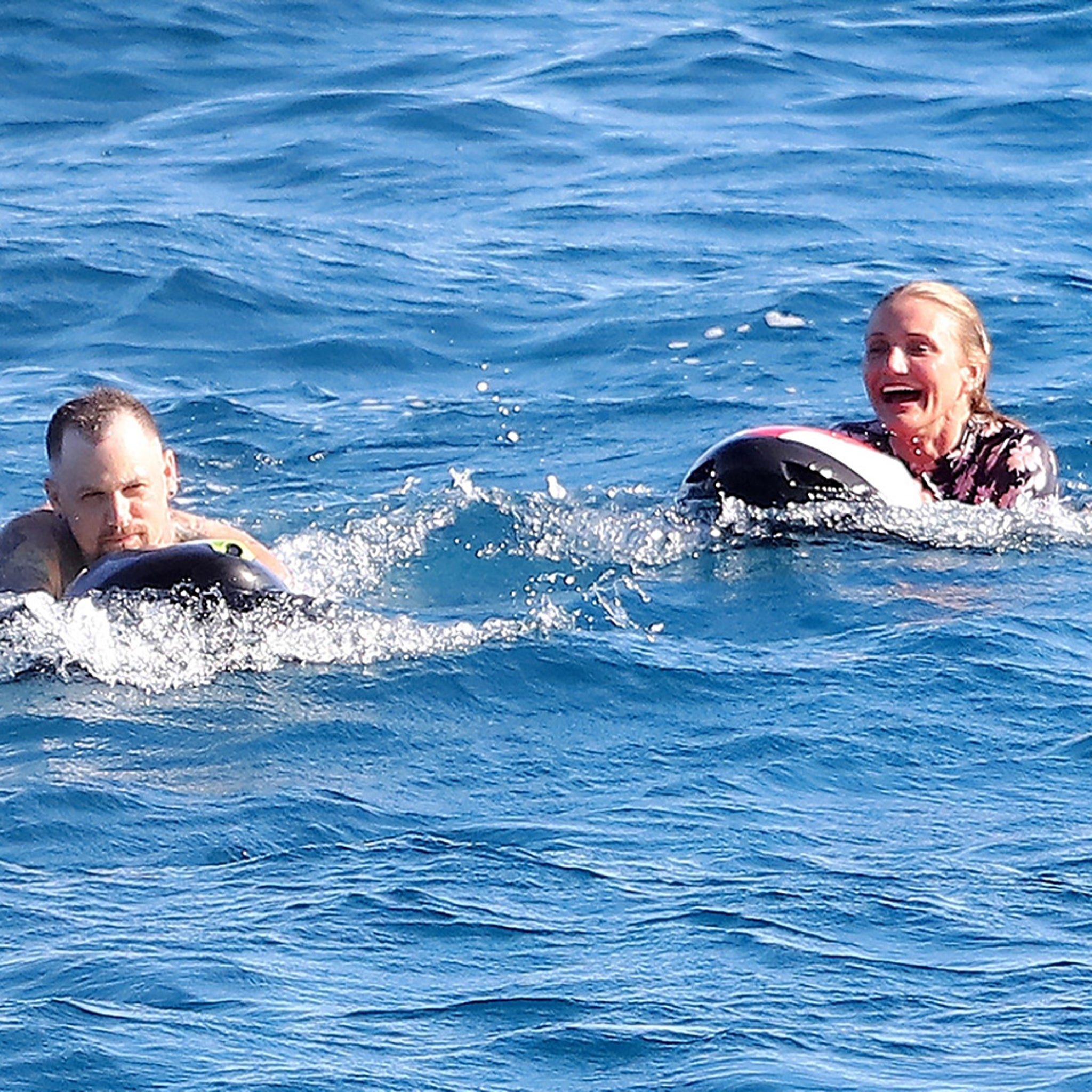 Cameron Diaz and Benji Madden Make a Splash in St. Tropez