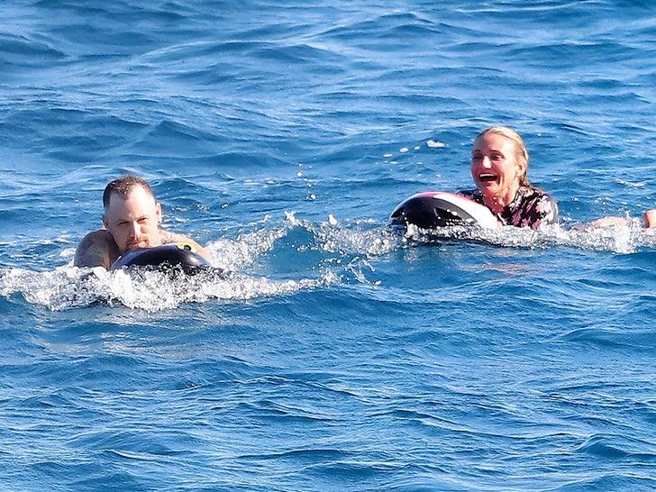 Cameron Diaz and Benji Madden Make a Splash in St. Tropez