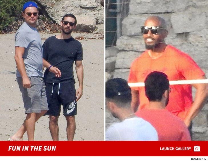 Celebrity Volleyball Match In Malibu