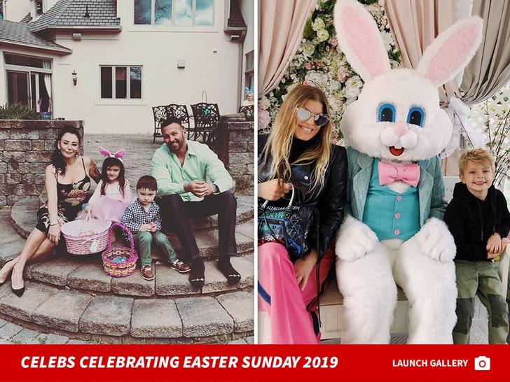 Celebs Celebrating Easter Sunday 2019