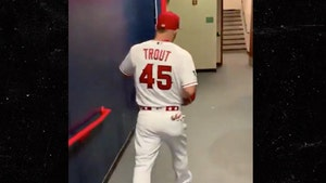 Mike Trout Honors Tyler Skaggs at All-Star Game with No. 45 Jersey