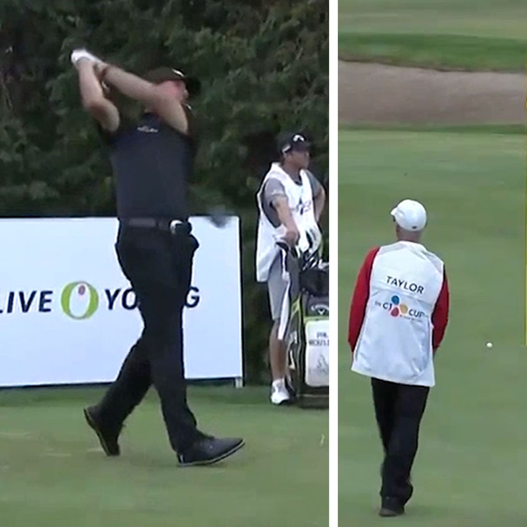 Phil Mickelson Almost Cards Hole In One On 353-Yard Par 4, Insane Drive!