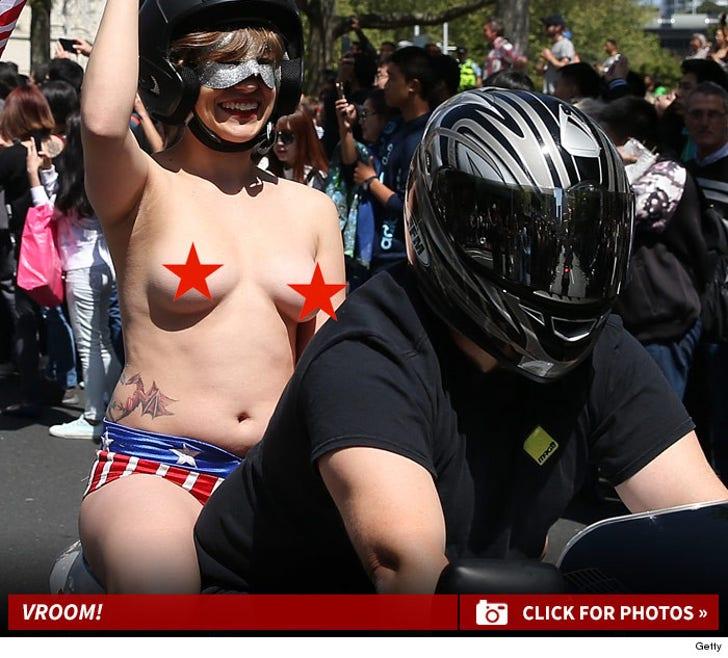 New Zealand's Boobs On Bikes Parade -- Check Out the NSFW Kiwis!