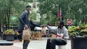 JuJu Smith-Schuster Buys Meal for Man In Need, Awesome Video