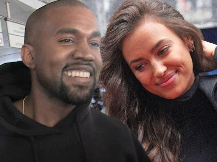Kanye West Rebounds With Supermodel Irina Shayk In France