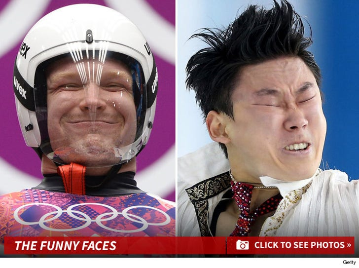 Sochi's Olympic Athletes -- POOP FACES ... Because It's Funny