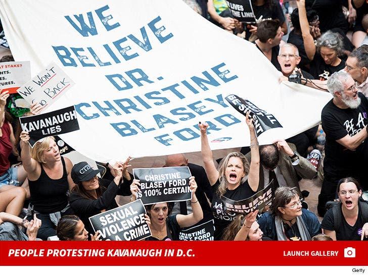 People Protesting Brett Kavanaugh in D.C.