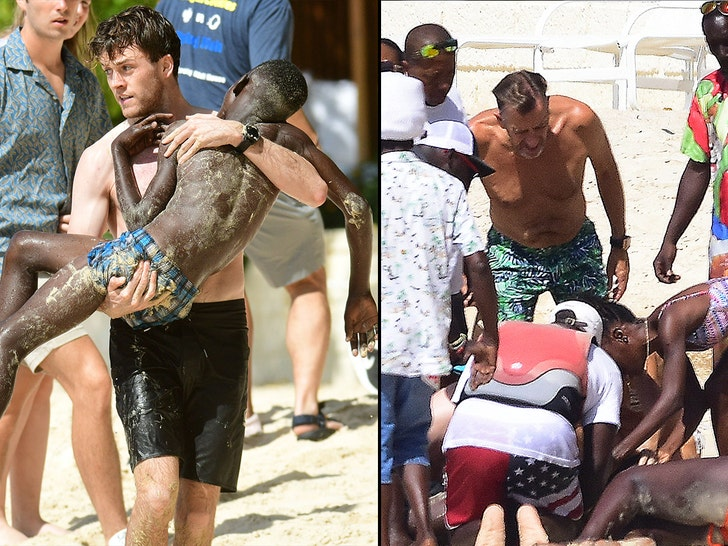 Duncan Bannatyne and wife Nigora join British holidaymakers help save two local boys from drowning