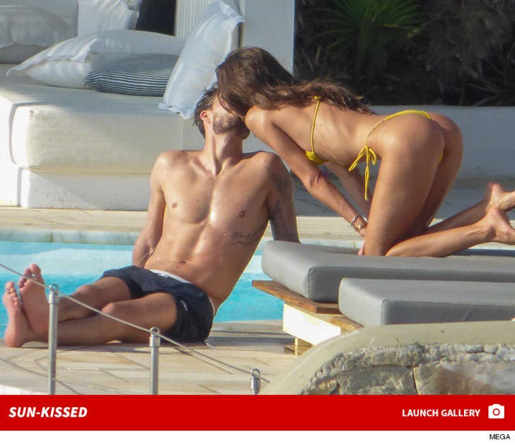 Kevin Trapp and Izabe Goulart in Mykonos -- Sun Kissed