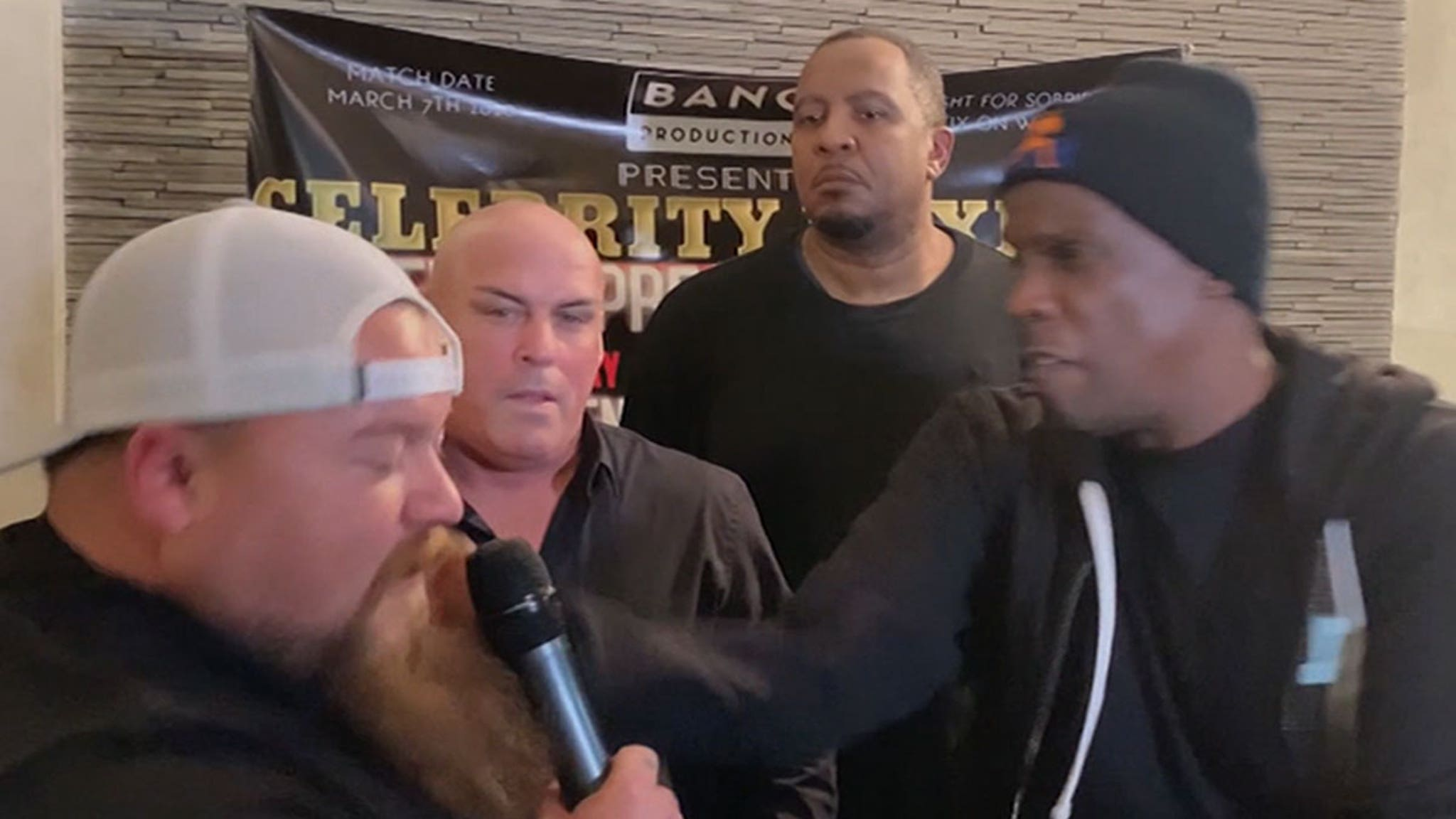 Doc Gooden Attacks Opponent Catfish Cooley At Celeb Boxing Event