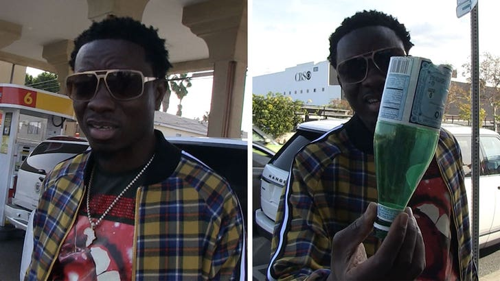 Michael Blackson's Saga of Running Out of Gas Includes Help from Enemy