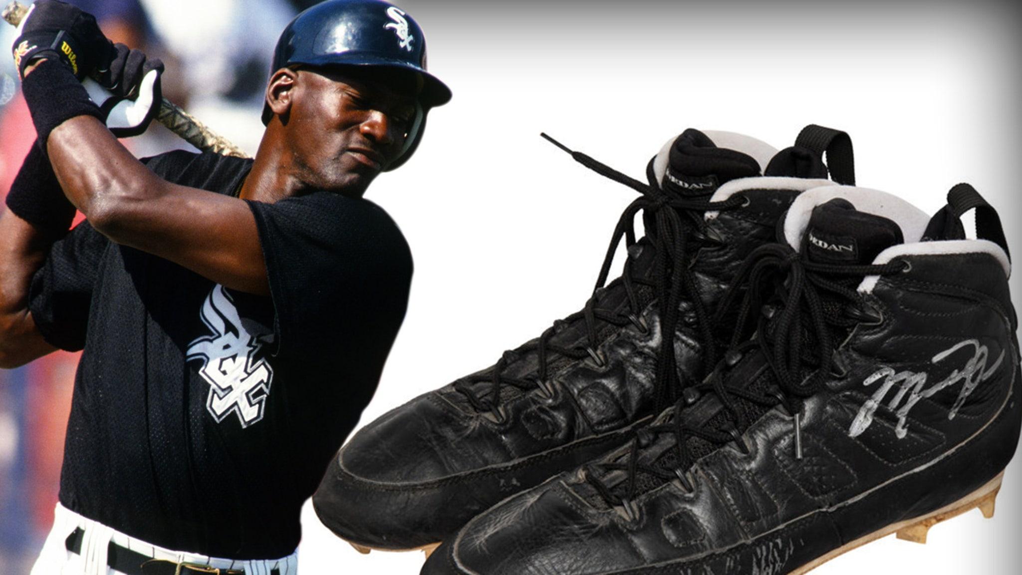 Michael Jordan-Worn, Signed Baseball Cleats Sell for $93k