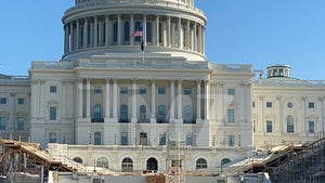 Inauguration Day Construction Underway in Front of U.S. Capitol
