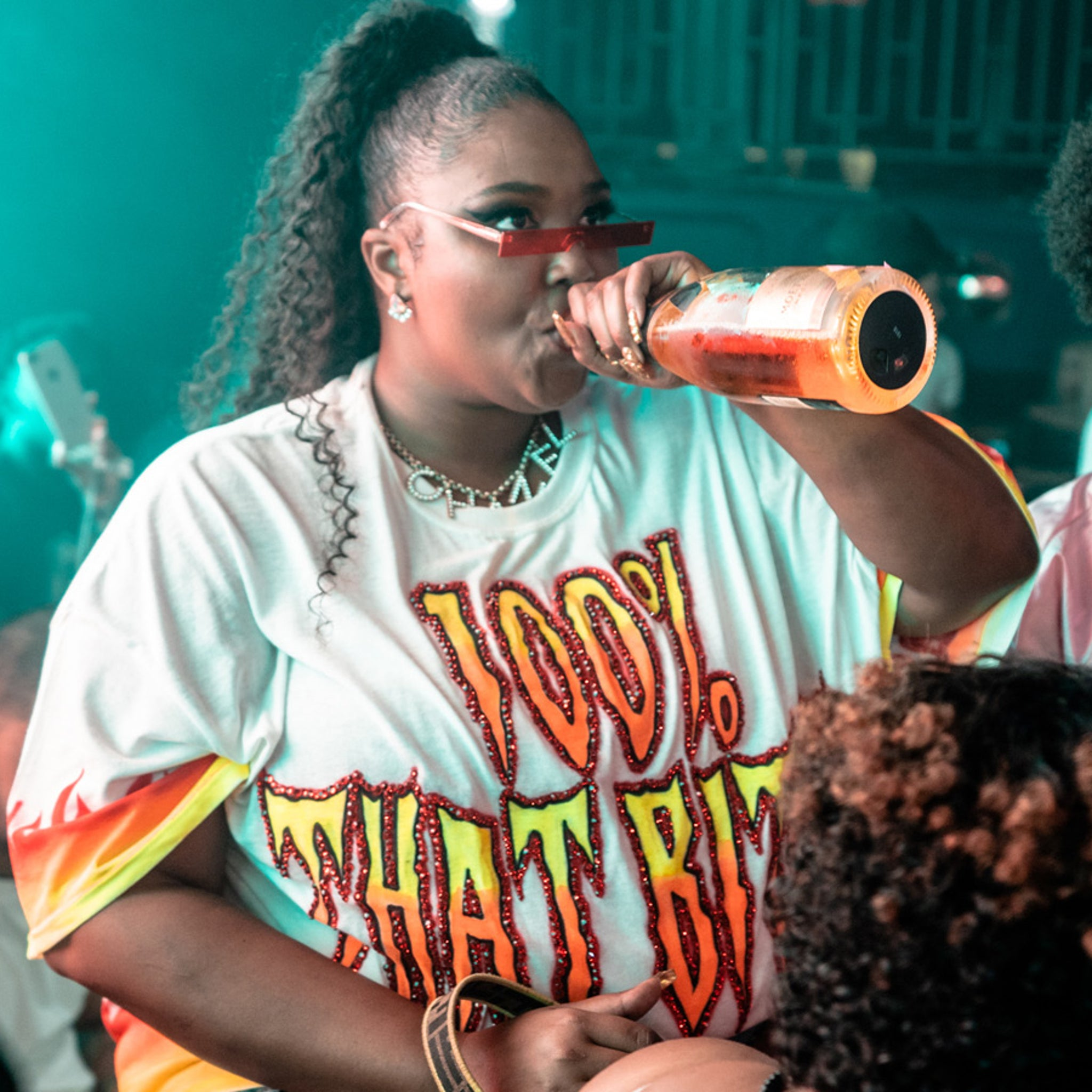 Lizzo in Control of Bottle Service at Made in America After-Party