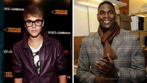 Justin Bieber -- Fear of Keyshawn Johnson ... in Neighborhood Speeding War