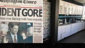 Trump Campaign HQ Plastered with Fake Newspaper About Al Gore 'Win'