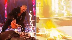 WWE Superstar Bray Wyatt Set On Fire In Insane Ending To Wrestling Match