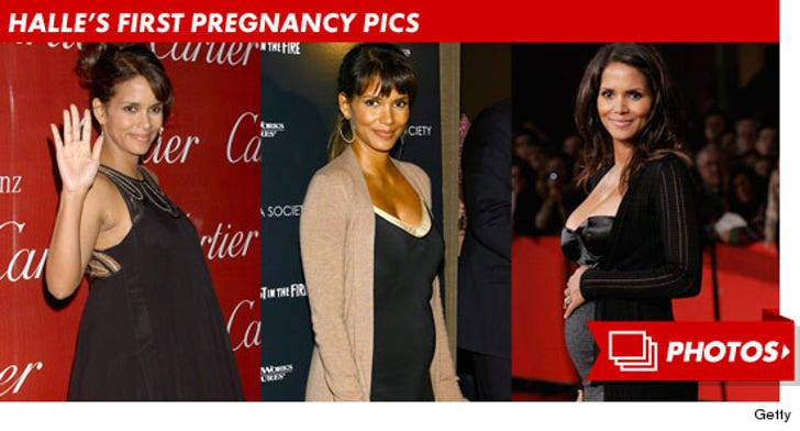 Halle Berry's First Pregnancy Pics