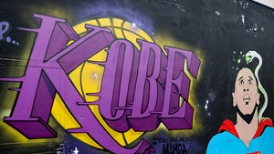 Kobe Bryant's 42nd Birthday Celebrated by Murals, Vanessa & LeBron