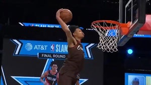 Blazers' Anfernee Simons Nearly Kisses Rim To Win NBA Dunk Contest
