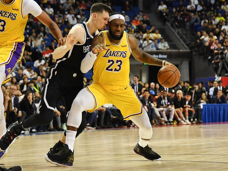 LeBron James Balling Out In China Despite Protesters at Arena
