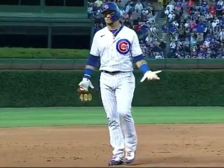Javy Baez thrown at baseball game
