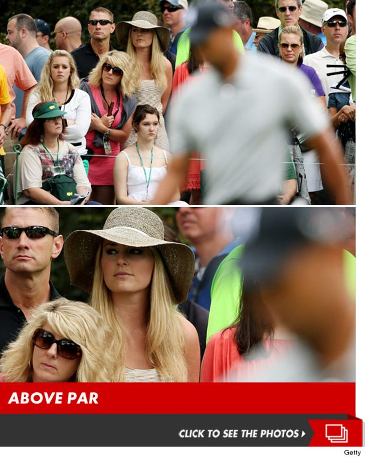 Lindsey Vonn -- Tailing Tiger Woods ... at The Masters