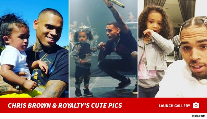 Chris Brown and Royalty -- The Cute Pics