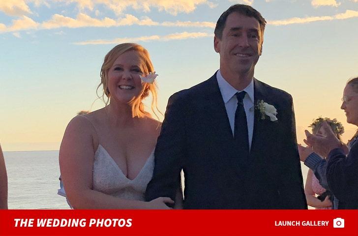Amy Schumer -- White Wedding Photos