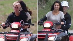 Justin Bieber & Selena Gomez -- PDA on an ATV (PHOTOS)