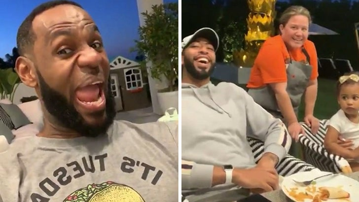 LeBron James Brings Anthony Davis to 'Taco Tuesday!'