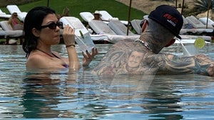 Travis Barker Enjoys Cabo Pool with Kourtney After First Flight Since 2008 Crash