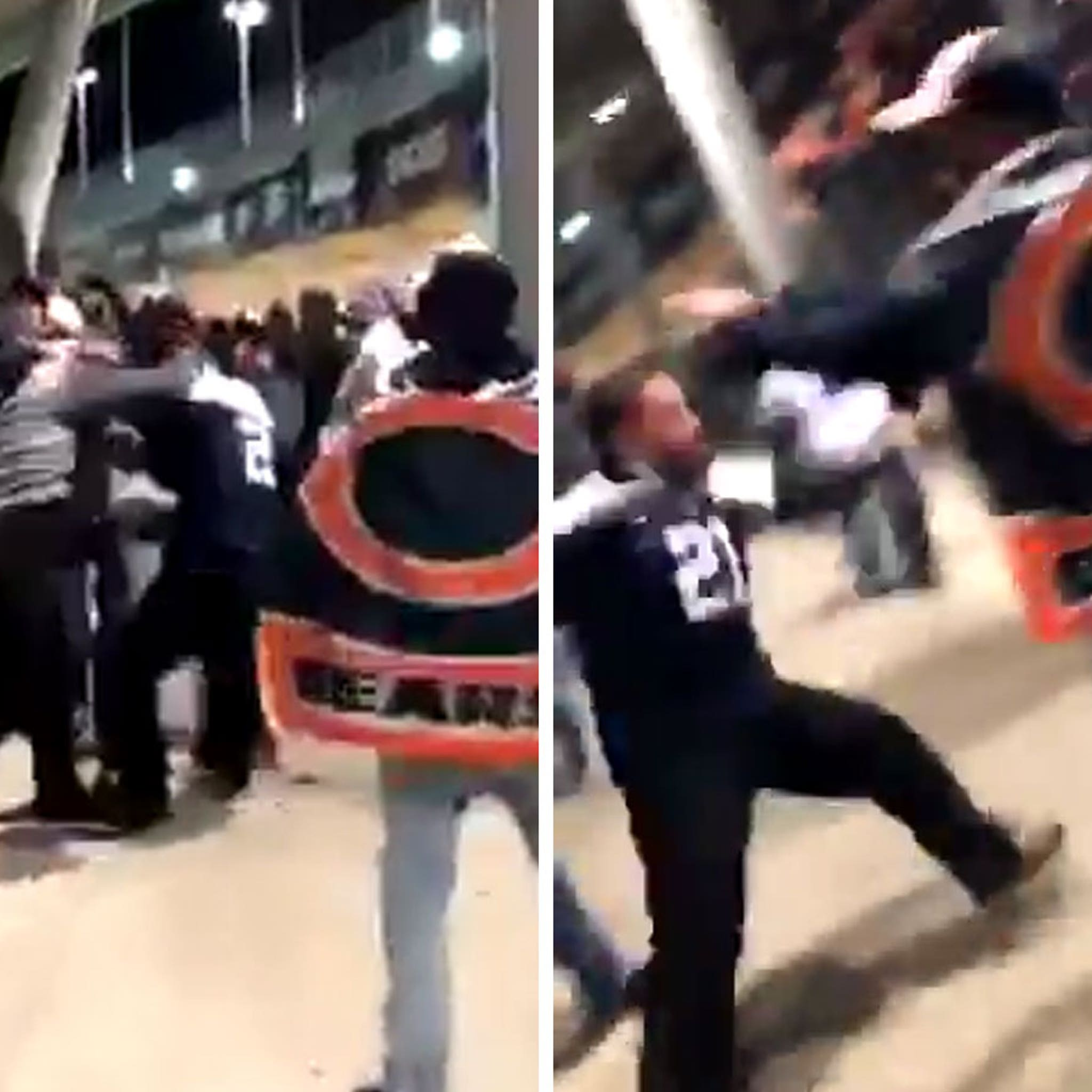 Chicago Bears Fans Beat Up Cowboys Fans at Soldier Field in Fight Video