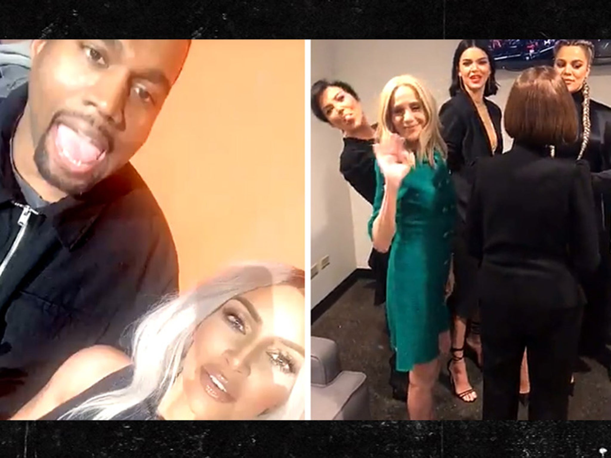 388ddca6238a5 Kim Kardashian and Kanye West Up Against Kendall, Khloe and Kris for  'Family Feud' Taping