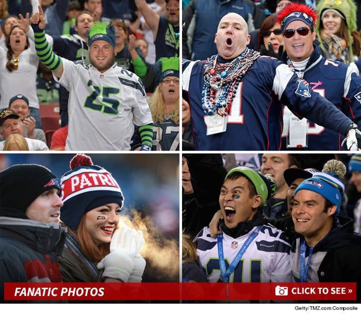 Famous Faces-- Faux Super Bowl Fanatics!