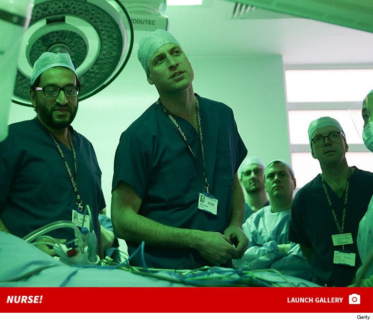 Prince William in Scrubs -- Nurse!
