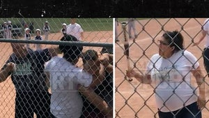 Baseball Brawl Video Shows Pregnant Woman with Bat, 'I Don't Give a F*ck'